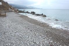 Крым. Алупка. Маленький пляж на Алупка-Сара, под дачами VIP-персон