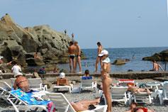 Крым, Алупка, отдых на море, детский пляж