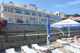 Алупка. Отель, гостиница Сон у моря. Вид с пляжа