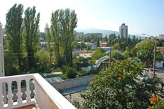Крым Алушта вид на город с балкона гостиницы Фламинго