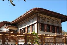 Бахчисарай. Ханский дворец. Жилой корпус. Вид на Золотой кабинет