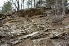 Крым. Сланцевые породы горы Агман
