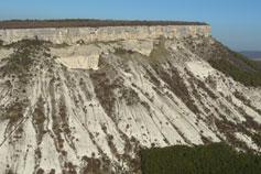Вид с северного склона плато Чуфут-Кале