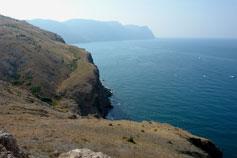 Вид с горы Аскети на мыс Айя