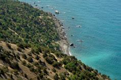 Балаклава. Вид на Серебрянный пляж