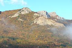 Вид с Биюк-Исар на гору Пиляки