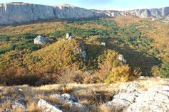 Биюк-Исар. Панорама Ай-Петринской яйлы