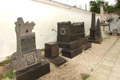 Евпатория. Лапидарий во дворике Большой Кенасы. Караимские памятники