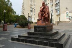 Евпатория. Памятник Тарасу Григорьевичу Шевченко на улице Шевченко