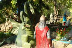 Евпатория. Архитектурная композиция Змей Горыныч в городке Сказок в парке Фрунзе