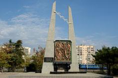 Евпатория. Вокзал Памятник Депортированным Татарам