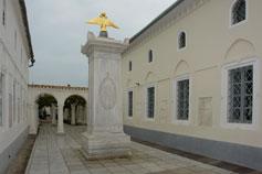 Евпатория. Кенасы. Монумент в честь посещения кенас императором Александром 1