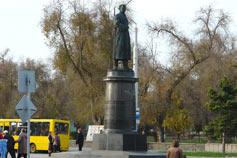 Евпатория. Памятник генерал-майору авиации Н.А. Токареву