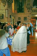 Феодосия.Крещение младенцев