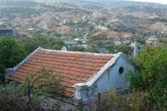 Феодосия. Дома в предгорьях Тепе-Оба и горы Митридат