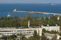 Гора Митридат. Вид на Феодосийский порт