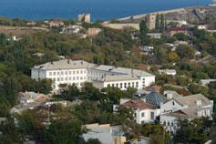 Гора Митридат. Фото Феодосийской крепости
