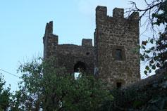 Феодосия. Крепость Каффа. Башня Криско с внутриной стороны