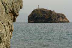 Вид на остров Явления святого Георгия Победоносца