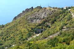 Вид на Мелласский (Форосский) туннель