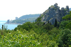 Вид на скалу Крепостная