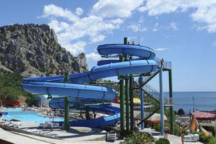 Кацивели, аквапарк, вид на Симеиз