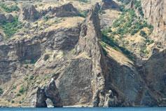 Крым. Карадаг - стена Лагорио и Золотые Ворота