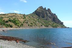 Крым. Курортное. пляж