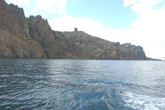 Крым. Карадаг, фото с моря