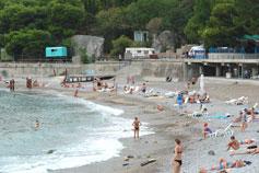 Кастрополь (Береговое), городской пляж