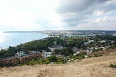 Гора Митридат. Вид на завод Залив