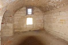 Крепость Керчь. Казематированная мортирная потерна внутри батареи