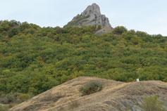 Горы по дороге из Коктебеля в Судак