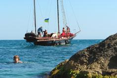 Яхта в дрейфе