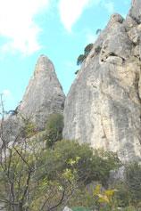Вид на скалы Нового Света с Крепостной горы в Судаке