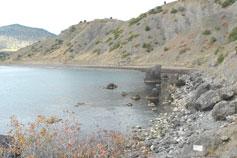 Выход к Кутлакской бухте со стороны массива Караул-Оба