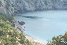 Синяя бухта. Вид на Царский пляж в Новом Свете