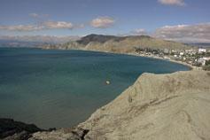 Орджоникидзе. Вид на гору Биюк-Янышар с ее вершиной Джан-Куторан