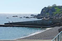 Понизовка пляж вид на мыс Троицы или Узун