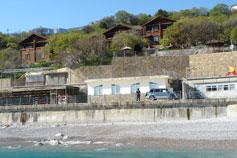 Понизовка, домики на берегу моря