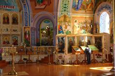 Крым. Город Саки. Молитва в Свято - Ильинском храме