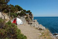 Палатка на мысе Сарыч