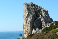 Симеиз, скала Лебединое крыло, вид на море