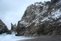 Симеиз, снег у моря