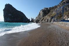 Крым Ялта Симеиз пляж море