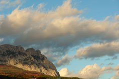 Гора Ай-Петри в облаках над Симеизом