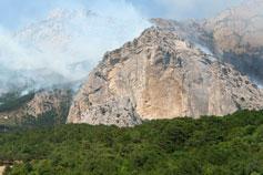 Крымский пожар в Симеизе 2007 года