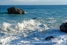Море, волна, берег Симеиза
