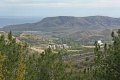 Вид на поселок Солнечную Долину