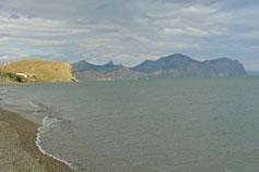 Бухта Чалка. Вид на Кара-Даг